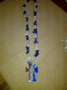 Sapphire woman's necklace